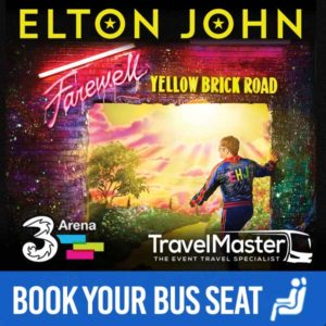 Bus to Elton John 3Arena 2020