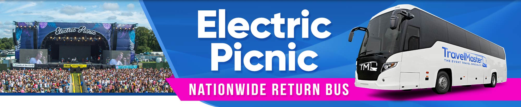 Bus to Electric Picnic 2020 - Nationwide Return Service to EP