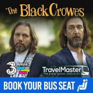 Bus to The Black Crowes 3Arena